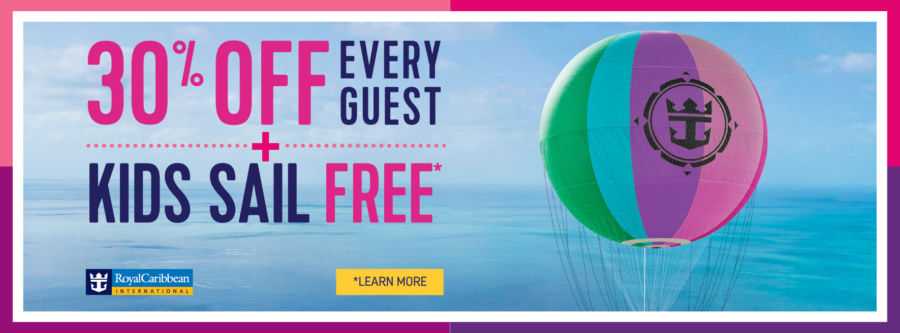 30% Off Every Guest PLUS Kids Sail Free with Royal Caribbean. Click to learn more.